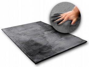 Kusový koberec RABBIT - Šedý - imitace králičí kožešiny