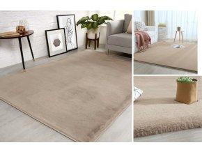 Kusový koberec RABBIT - Taupe - imitace králičí kožešiny