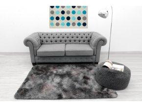 Plyšový koberec - Ombre Tmavě Šedý