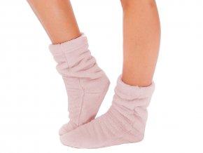 Dámský župan NANCY + ponožky - růžový