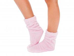 Dámský župan NANCY + ponožky - růžový 2