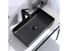 Keramické umyvadlo DENIS - černé matné