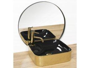 Keramické umyvadlo ELISA - černé/zlaté