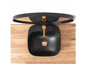 Keramické umyvadlo LUIZA 42 - černé matné