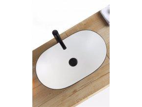 Keramické umyvadlo ROYAL - černé matné/bílé