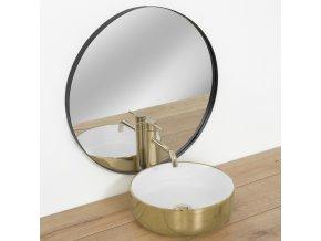 Keramické umyvadlo SAMI - zlaté/bílé