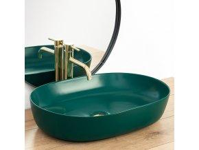 Keramické umyvadlo CLEO - zelené matné