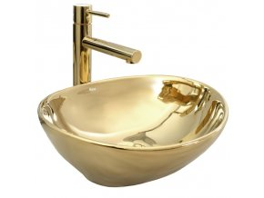 Keramické umyvadlo SOFIA zlaté