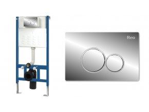 WC modul pro závěsné WC - E chróm