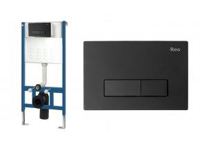 WC modul pro závěsné WC - H černý