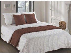 Oboustranný přehoz na postel AMANDA 200x220 cm hnědá-krémová