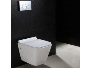 Závěsné WC DIVIO REA RYAN rimless duroplast slim