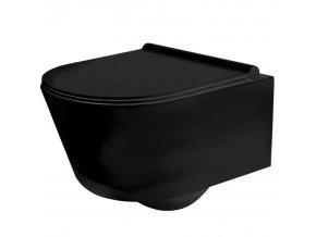 Závěsné WC PORTER RIMLESS černé
