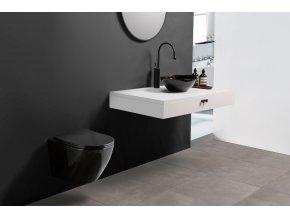 Závěsné WC DIVIO REA CARLO MINI rimless flat černé