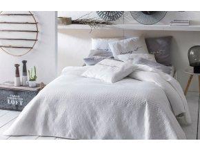 Oboustranný přehoz na postel BUENO 170x210 bílá