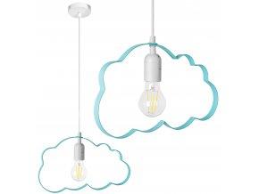 Dětské stropní svítidlo MRÁČEK - modré