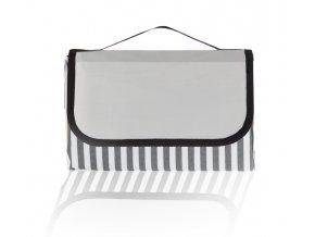 Pikniková deka PÁSY 2 150x200 cm - šedá