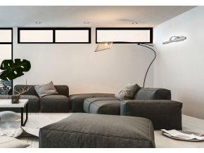 Nástěnné LED svítidlo nad zrcadlo AZZA - 70 cm - 9W - chromové
