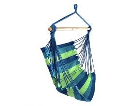 Závěsné houpací křeslo JUNGLE 100x100 cm - zeleno/modré
