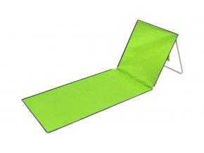 Plážové lehátko podložka s opěradlem - zelené