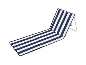 Plážové lehátko podložka s opěradlem - marine