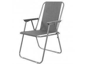 Campingová židle HUNTER - šedá