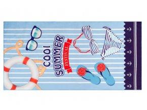 Plážová osuška COOL SUMMER 170x87 cm