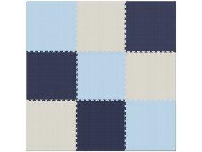 Pěnový koberec MAXI 9 ks 180x180x1 cm šedo-růžovo-bílá
