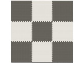 Pěnový koberec MAXI 9 ks 180x180x1 cm šedo-bílá