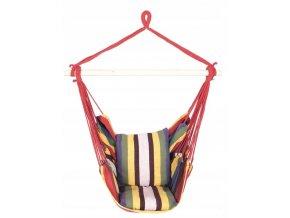 Závěsné houpací křeslo RAINBOW 130 s polštáři 100x112 cm - multicolor