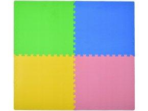 Pěnový koberec MAXI 4 ks 124x124x1 cm multicolor