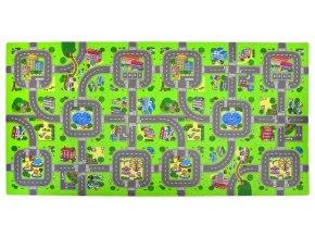 Pěnové puzzle 18 ks 180x90x1 cm městečko