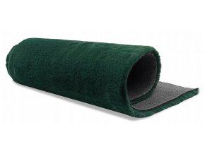 Plyšový koberec OSLO - Tmavě Zelený