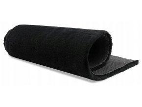 Plyšový koberec OSLO - Černý