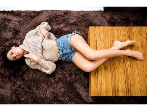 Plyšový koberec - Hnědý 2