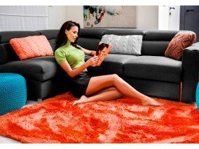 Plyšový koberec - Oranžový