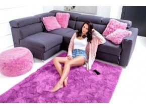 Plyšový koberec - Fialový 2
