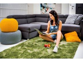 Plyšový koberec - Olivový