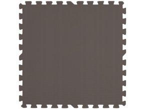 Pěnový koberec MAXI COLOR 1 ks 62x62x1 cm hnědá