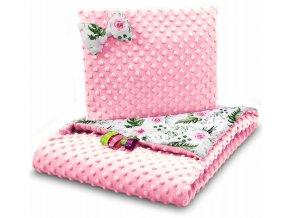 Dětská deka s polštářem do kočárku MINKY, vzor 725