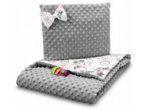 Dětská deka s polštářem do kočárku MINKY, vzor 727