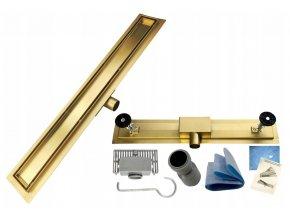 Odtokový sprchový žlab NEO 2v1 zlatý