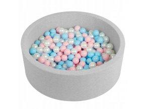 """Dětský suchý bazének """"90x30"""" s míčky růžovo-modré 300 ks1"""