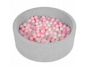 """Dětský suchý bazének """"90x30"""" s míčky růžové 300 ks"""