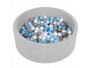 """Dětský suchý bazének """"90x30"""" s míčky šedo-modré 300 ks"""