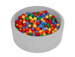 """Dětský suchý bazének """"90x30"""" s míčky barevné 500 ks"""