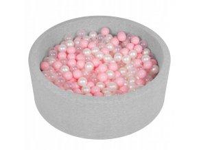 """Dětský suchý bazének """"90x30"""" s míčky růžové 500 ks"""