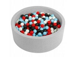 """Dětský suchý bazének """"90x30"""" s míčky červeno-černé 500 ks"""