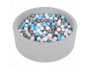 """Dětský suchý bazének """"90x30"""" s míčky šedo-modré 500 ks"""