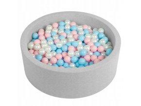"""Dětský suchý bazének """"90x30"""" s míčky růžovo-modré 500 ks"""